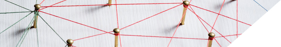 Banner image of pins connecting string on a board.