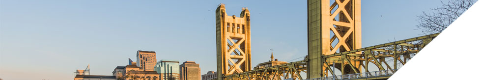 Banner image of the Tower Bridge in Sacramento.