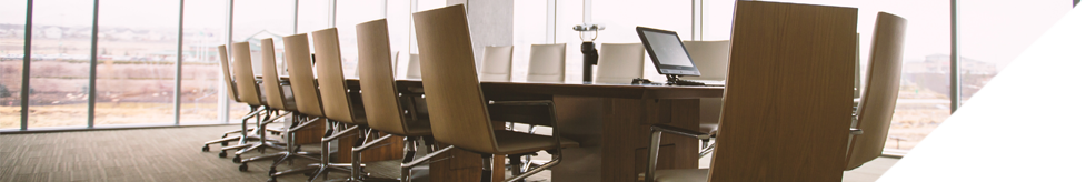 Banner image of a board room.