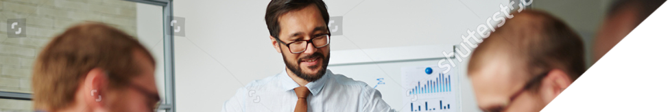 Banner image of a business man.